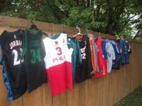 I have 14 various boys sports jerseys. You can have all