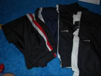 4 pairs size 10/2 M polyster type gym pants - 2 are