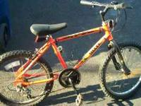 "Small, 5 speed mountain bike. 20"" wheels with good"