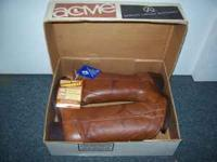 Brand New Boys ( size 4 ) Brown Leather Acme Cowboy