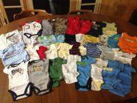 I have several boxes of newborn boys clothing. total of