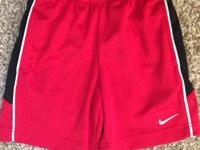 Like new Boy's Nike Dri-Fit Shorts Red with black &