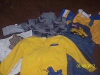 here are 3 shirts and a shirt and shorts that go