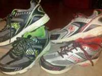 Two pair boys athletic shoes in good gently used