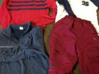 RL red with blue striped sweater size boys M Old navy