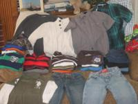Boys winter clothing for sale as a lot. Many items new