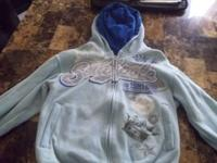 UP FOR SALE IS A BABY BLUE SOUTHPOLE SWEATER SIZE S