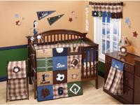 I have for sale: NoJo The Big Game crib bedding. I have