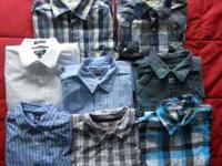 Lot of 8 shirts. All in excellent condition and worn