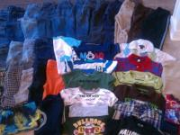 This is a XL LOT of toddler boys clothing size 4T.