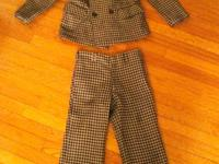 Great condition. Boys tweedy suite. Great details with
