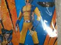 Boys Xmen Wolverine Costume, size 4-6.. Only worn once