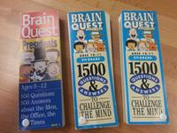 Brain Quest - 3 quiz books Presidents ages 9-12 1500