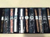 over 20 watches to choose from.. Gucci, Coach Lv,