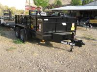 Brand New 12' Walton Dump Trailer Powder Coated In