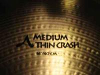 Never struck Zildjian A series 16' med. thin crash