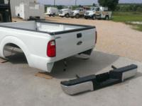 (2) Brand new 2015 Ford 8' white pickup beds Tailgate &
