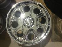 I have many sets of BRAND NEW chrome wheels and tires