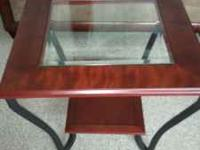 hi i have a BRAND NEW 3 piece cherry-wood coffe table i