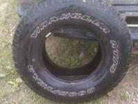 Brand new goodyear wrangler rt/s.$75 obo. No rim. Call