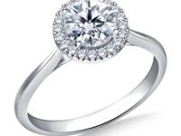 Buy Brand New 5/8 ct. tw. Round Brilliant Diamond Halo