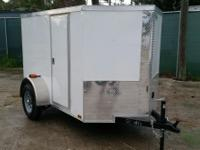 352 5939800 Brand NEW 5 x 8 ' Wht Motorcycle Trailer