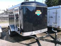 "5X8 Enclosed Trailer 5' Wide, 8' Long, 13"" Tires, Rear"