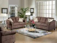 Come see this beautiful new 6 piece living room set. It