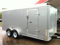 2013 BRAND NEW 7 x 16 Enclosed Cargo Trailer -SILVER