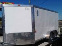 Brand New 7X17 Tandem Axle V-Nose Enclosed Trailer -