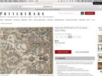 Brand new 8x10 Pottery Barn Nolan Persian Style rug,