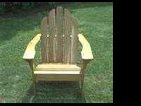 Brand new! Two unfinished Cedar wood Adirondack chairs