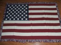 American Flag throw (couch or car blanket) Brand new in