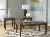 Brand New Ashley 3 Faux Marble Piece Table Set is $218