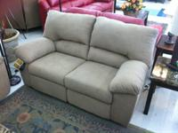 BRAND NEW TAN ASHLEY RECLINING SOFA AND LOVE SET ON