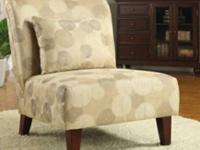 Accent chair functions hardwood legs with espresso
