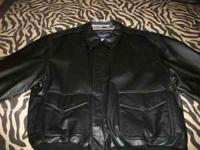 BRAND NEW BLACK LEATHER JACKET NEVER WORN SIZE XL AIR