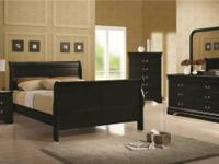 Brand New Black Queen Bed Night Stand Dresser & Mirror