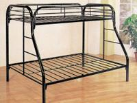 This space saving design twin over full bunk bed makes