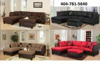 Bonded Leather Sectional Available in 4 colors, red,