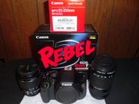 This is a brand new canon rebel t3i along with 2 new