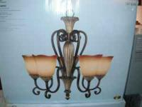 BRAND NEW HAMPTON BAY CHANDELIER ASSEMBLED DIMENSIONS-