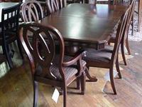 Brand brand-new cherry banded leading table with leaf,