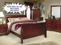 Right here is a BRAND NEW Cherry Bedroom Suite. This