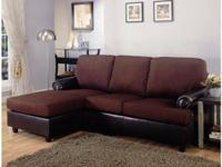 Brand New Chocolate Sectional Sofa Only $385!
