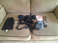 Brand new Black Diamond Bod climbing harness. Also a