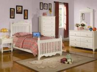 BRAND NEW IRA TWIN BEDROOM SET IN WHITE FINISH