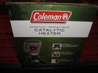 Brand new in box propane Coleman sportcat perfectemp
