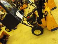 Cub Cadet 528swe snowblower never been ran, zero turn