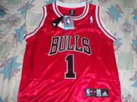 * Derrick Rose Red Chicago Bulls Jersey (Size 44, Mens